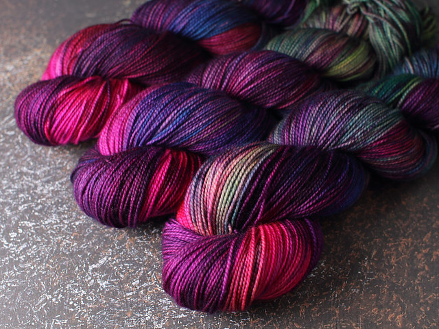 Favourite Sock – pure Merino 4 ply/fingering weight wool superwash hand dyed yarn 100g – 'Even Unicorns Burn Out'