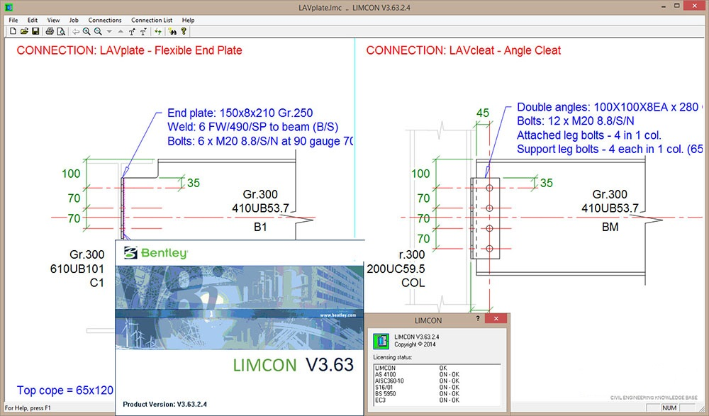 Working with Bentley Limcon 03.63.02.04 full license
