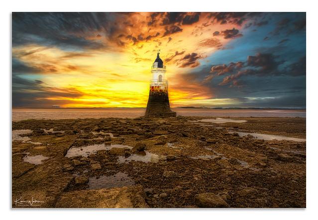 Plover Scar Lighthouse, Sunset