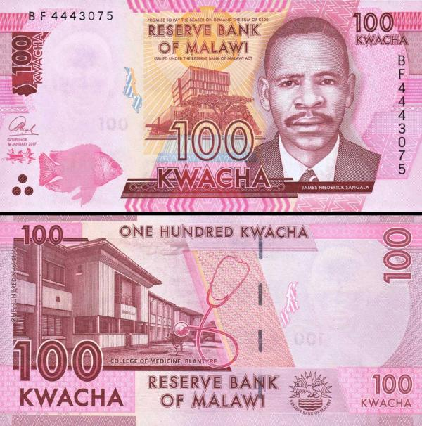 100 Kwacha Malawi 2017 P65c