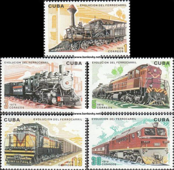 Známky Kuba 1975 Vývoj železnice séria MNH