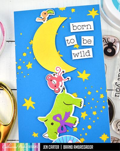 Jen Carter Born to Be Wild Animals Moon Sky Closeup 1