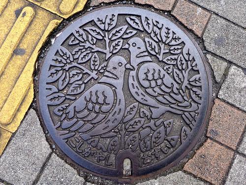 Koshigaya Saitama, manhole cover 2 (埼玉県越谷市のマンホール2)