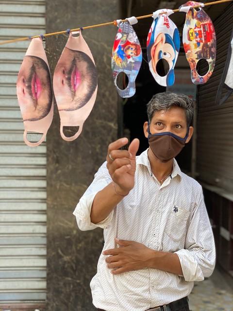 City Hangout - Jain's Mask Stall, Chawri Bazar