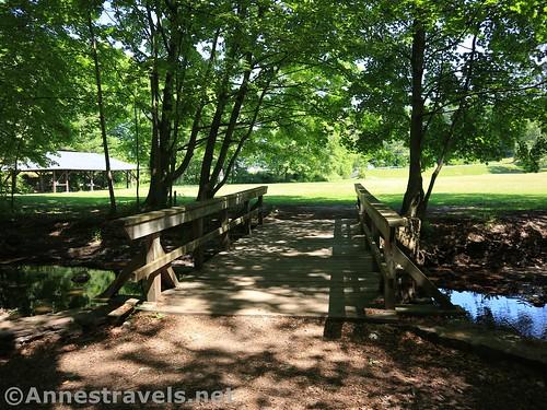The bridge over Mill Creek, Webster Park, New York