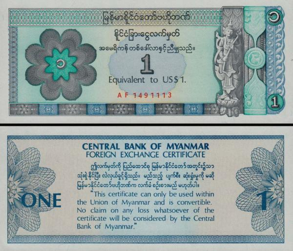1 dolár Mjanmarsko 1993 FX1
