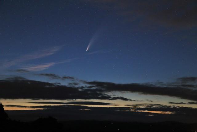 Comet NEOWISE over Devon