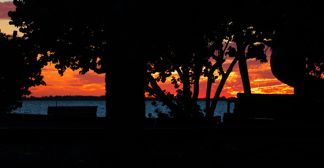 Fire In The Sky -- Charlotte Harbor Sunset; Punta Gorda, FL, Ponce de Leon Park [Lou Feltz]