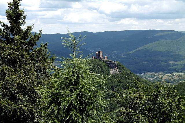 Blick zur Burg Trifels