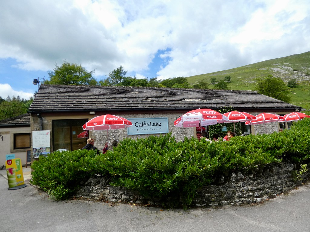 Cafe by the lake, Kilnsey Estate