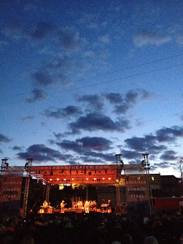 sunset sky evening concert pennsylvania live gig poconos rocknroll digitalphotography iphone tannersville monroecounty countryrock cantyousee systemtech pa clouds
