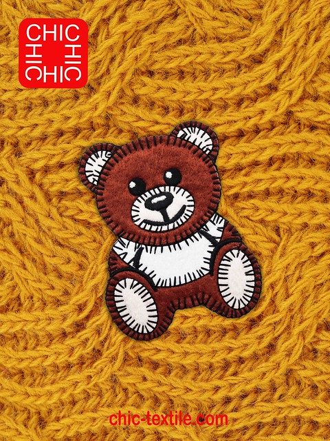 Chic Textile Embroidery Badges