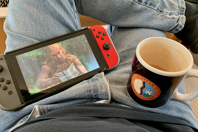 Black Flag on Switch with a cup of tea!