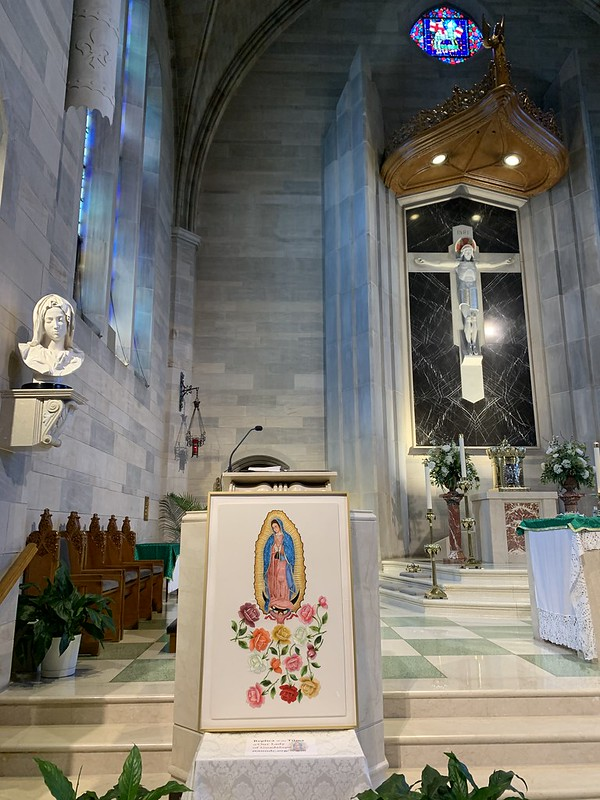 Tilma Replica of Our Lady of Guadalupe Visits St. Ann DC 7.26.2020
