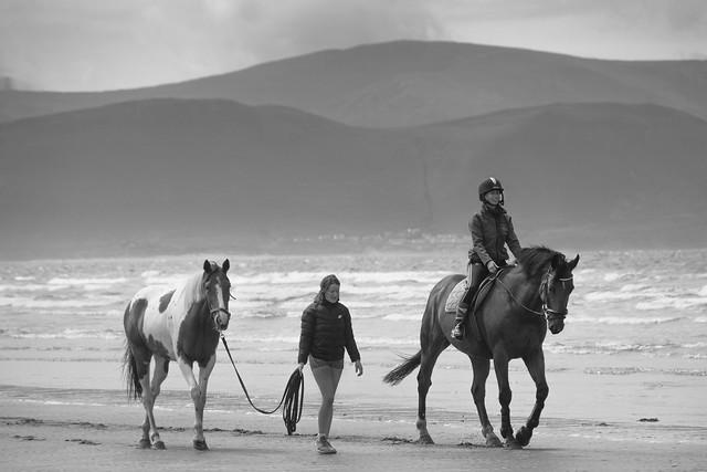 Beach riding. Inch Strand, Kerry, Ireland