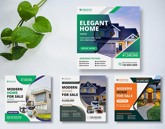 Real Estate Most Engaging Social Media Content Posts Design