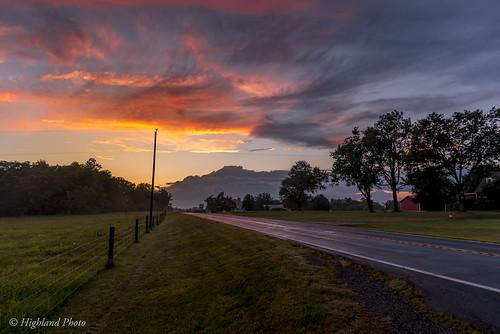 sunset virginia clouds landscape