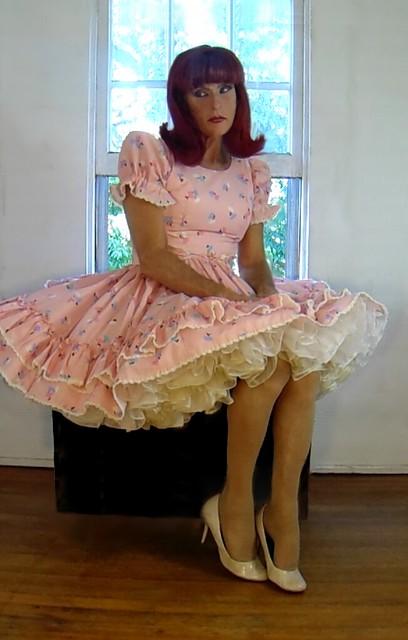 pretty pink square dance dress