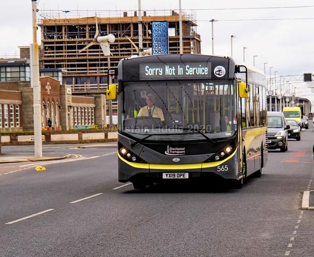 Blackpool Transport Service 11.8m ADL Enviro 200 MMC 565 YX19 OPE