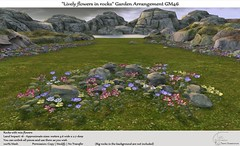 ".:Tm:.Creation ""Lively flowers in rocks"" Garden Arrangement GM46"