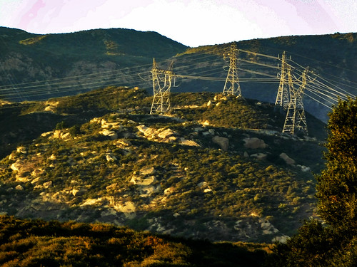 irvineranchnaturallands blackstarcanyonroad silverado california clevelandnationalforest photo digital summer rockscape landscape powerlines mountains goldenhour