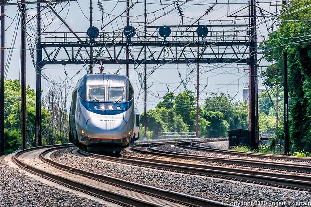 Amtrak 2009 on 2254 Eddystone, 2020-07-12