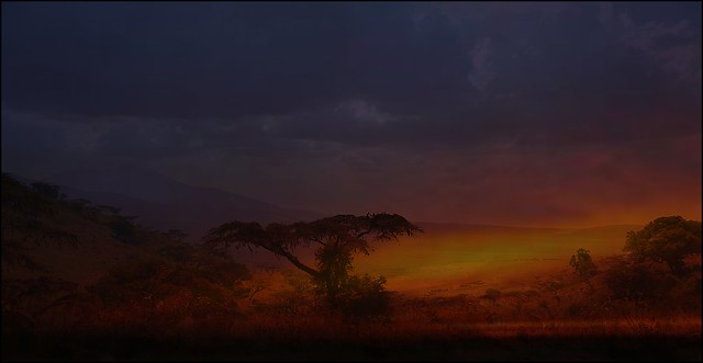 SunSet over the Ngorongoro Crater, Tanzania