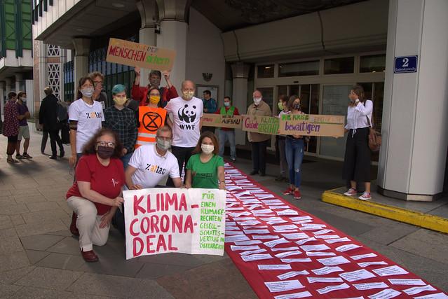 Roter Teppich für den Klima-Corona-Deal