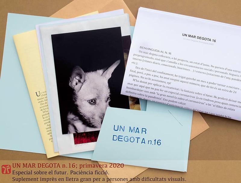 Un mar degota n.16, primavera 2020, quadern d'autor de Ferran Cerdans Serra
