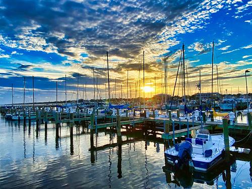 longbeach mississippi marina sunset