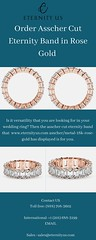 Order Asscher Cut Eternity Band in Rose Gold - www.eternityus.com