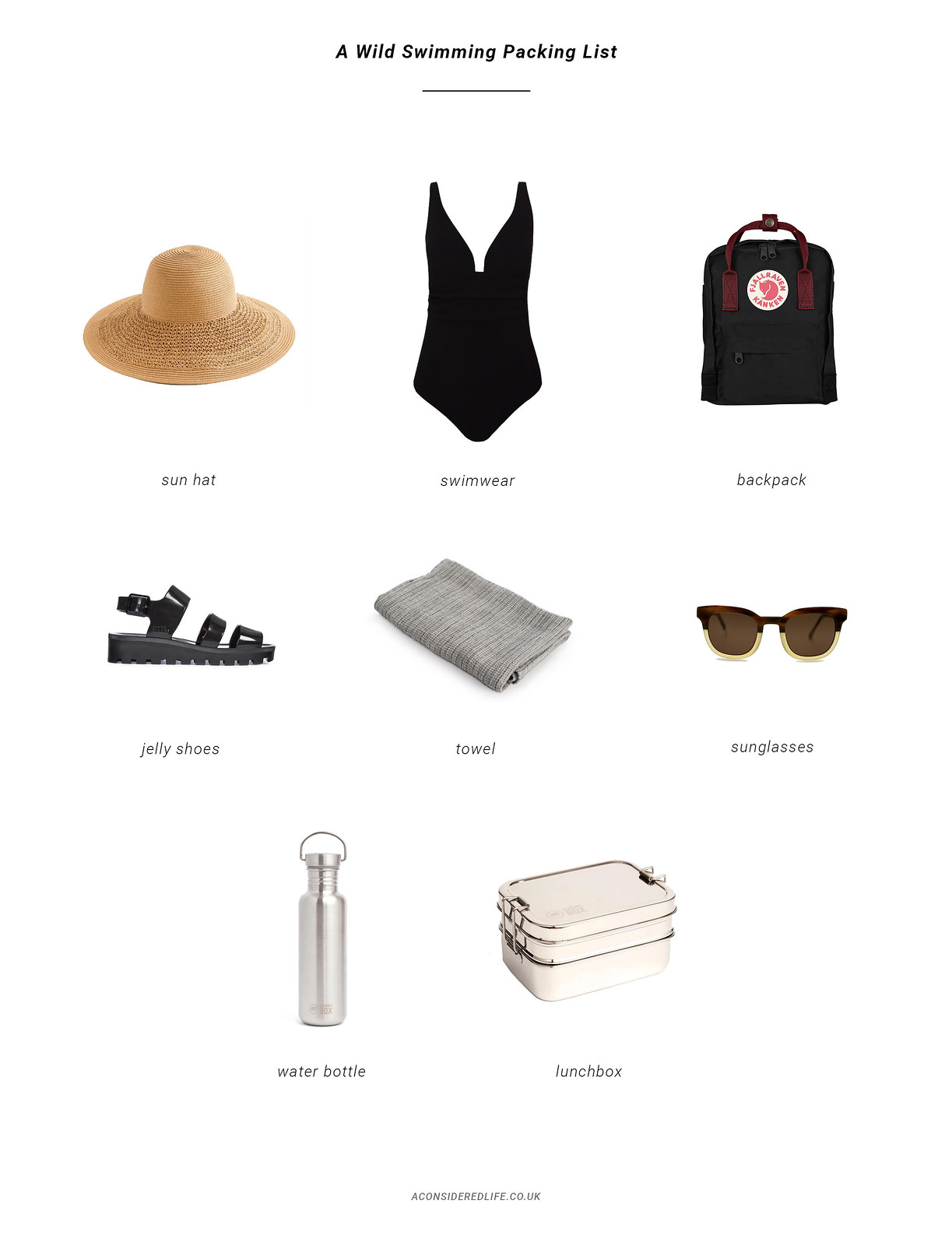A Wild Swimming Packing List