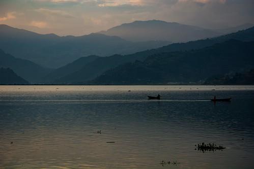 nepal pokhara sunset phewalake himalayaspokharawesternregionnepal