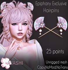 Pay attention to Epiphany Exclusive! There is Hairpins for 25 points