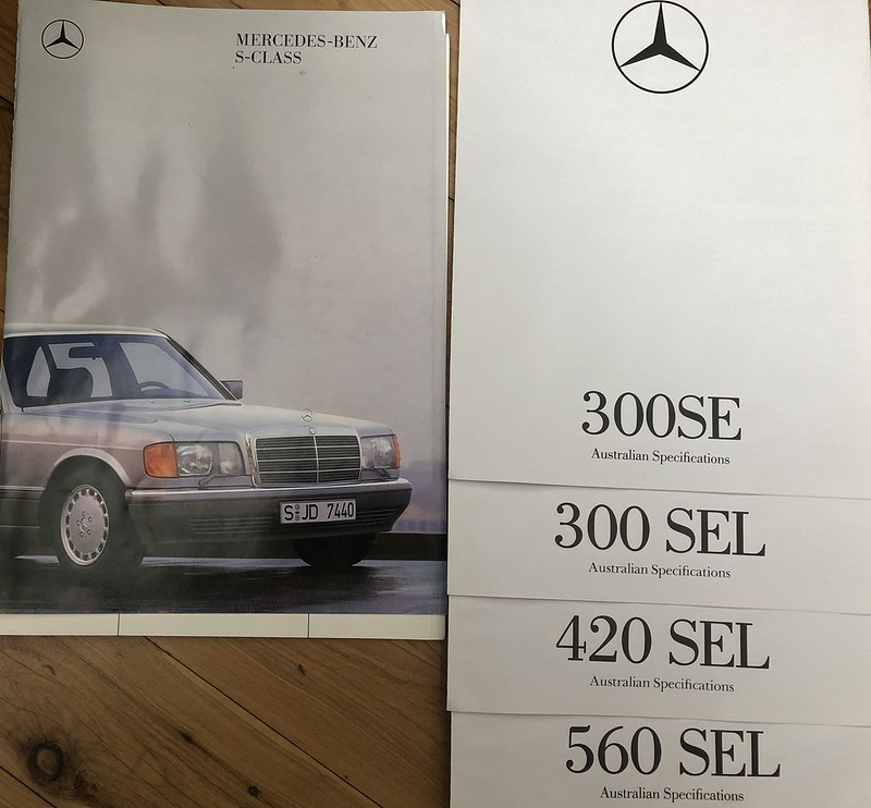 Mercedes-Benz Australia price list - July 1991