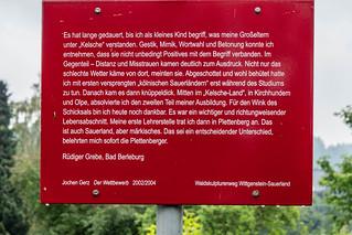 Schild in Fleckenberg