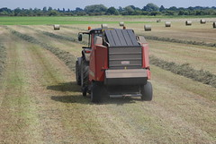 Baling hay at Lower Derwent Valley NNR
