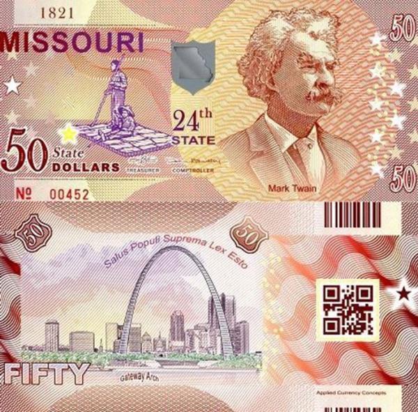 USA 50 Dollars 2015 24. štát - Missouri polymer