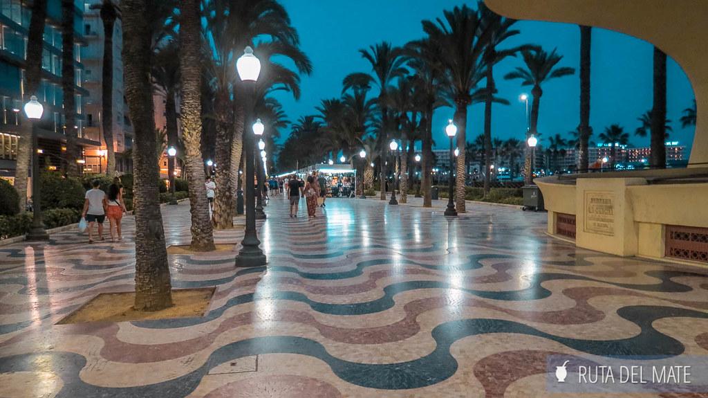 Explanada de España, una de las cosas que ver en Alicante