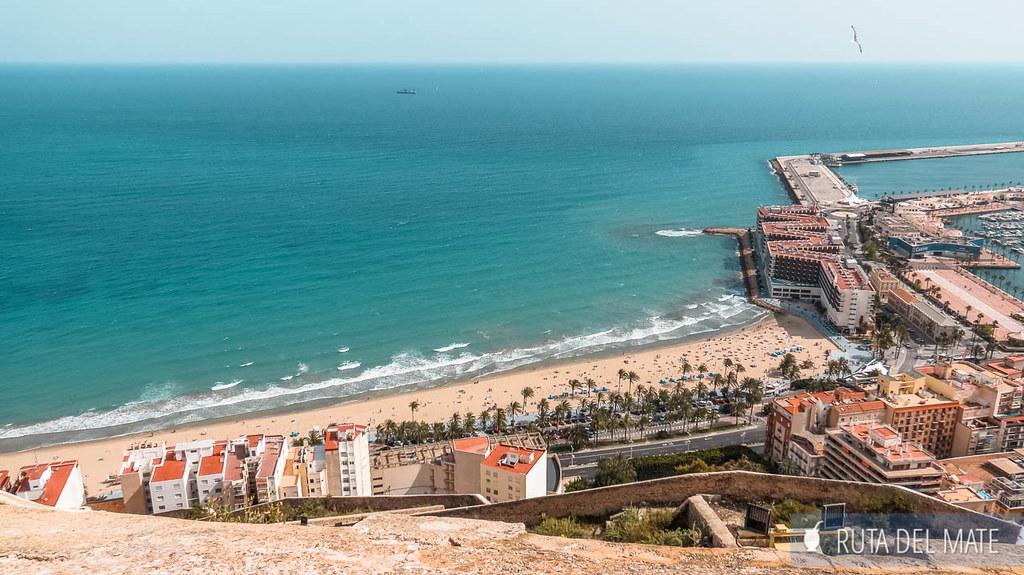 Vistas de Alicante desde el Castillo de Santa Bárbara
