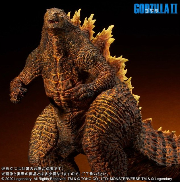 X-PLUS Gigantic Series《哥吉拉2:怪獸之王》紅蓮哥吉拉(2019)|ギガンティックシリーズ  バーニングゴジラ(2019)