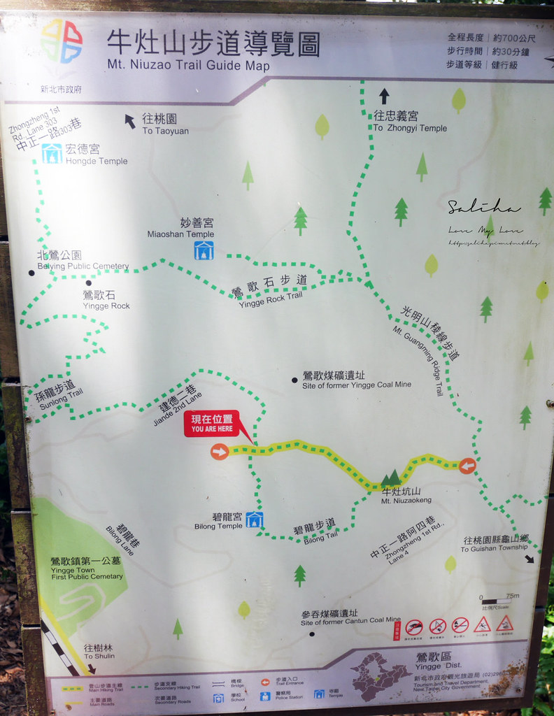 新北鶯歌孫龍步道 碧龍步道牛灶山步道導覽地圖