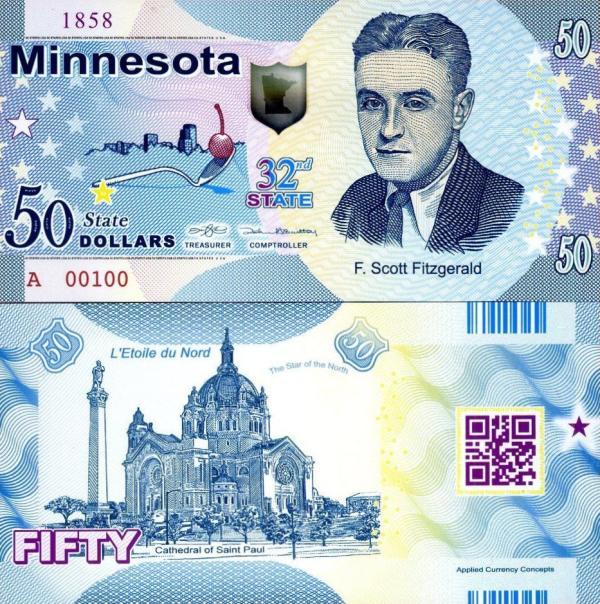USA 50 Dollars 2015 32. štát - Minesota polymer
