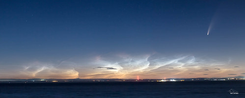 neowise moon mist wales night clouds sunrise dawn landscapes harbour somerset astro astrophotography barry nlc comet minehead noctilucent johnbaker