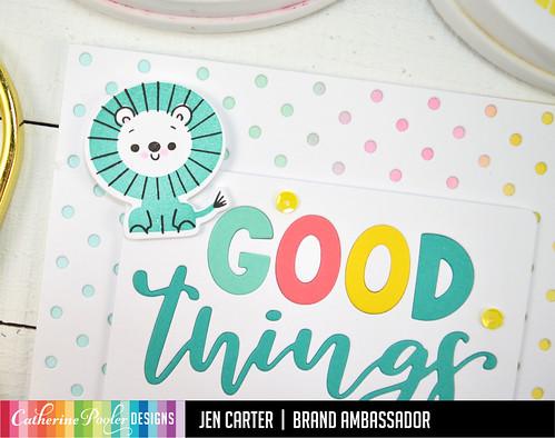 Jen Carter Good Things Ahead Card Set Blue Lion Closeup
