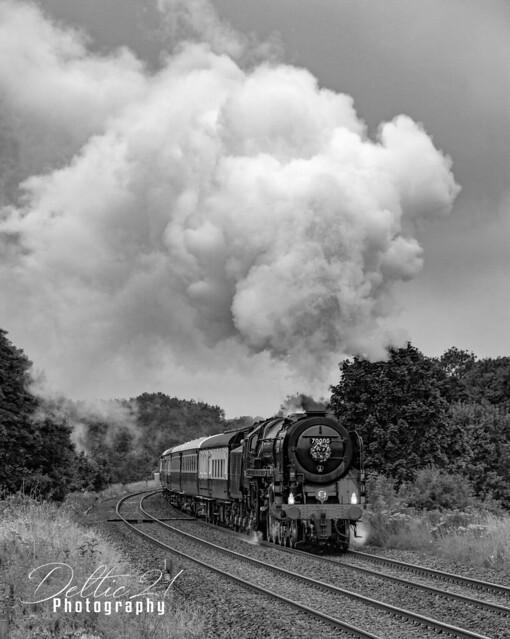70000 Britannia accelerates through Brindle - 15/07/2020