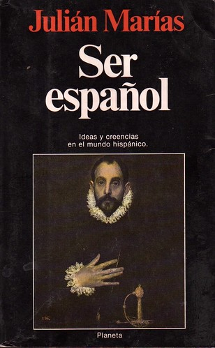 Portada del libro. Ser Español.