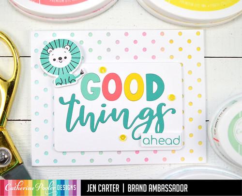 Jen Carter Good Things Ahead Card Set Blue Lion