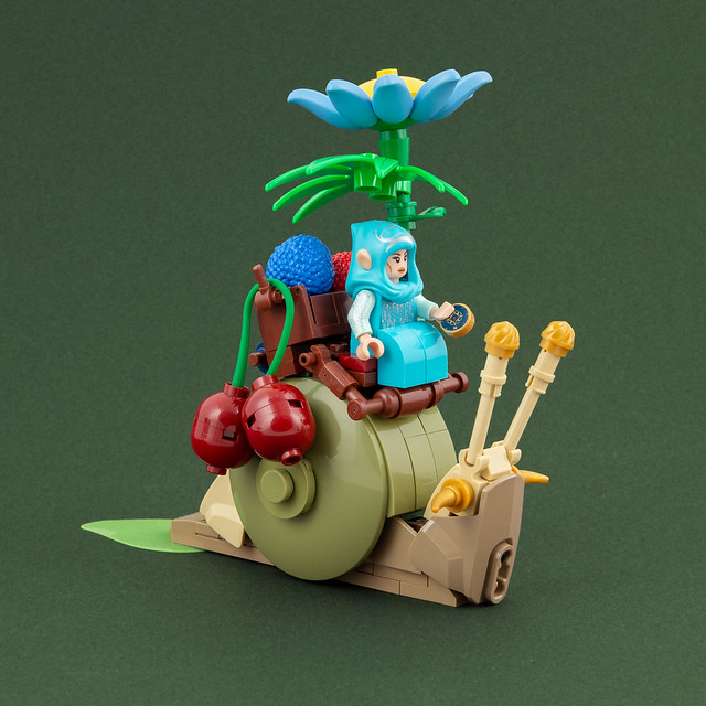 Fruit Merchant on her Snail mount