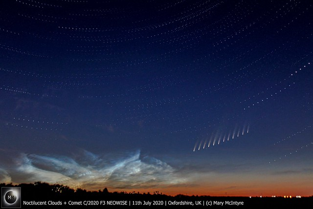 Comet C/2020 F3 NEOWISE + Noctilucent Clouds - 11/07/20